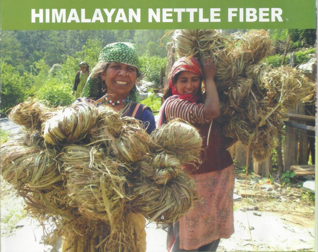 Hand Made  Natural Himalayan Stinging Nettle Fabric