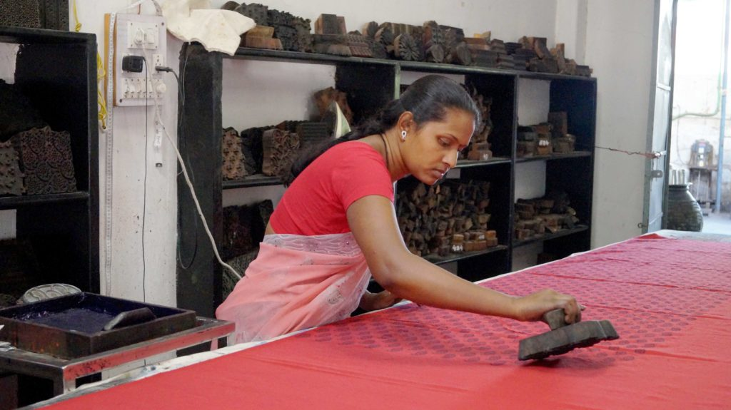 Block printing with natural dyes