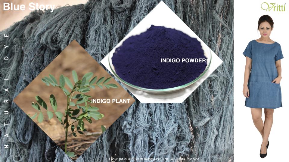 natural indigo blue dye